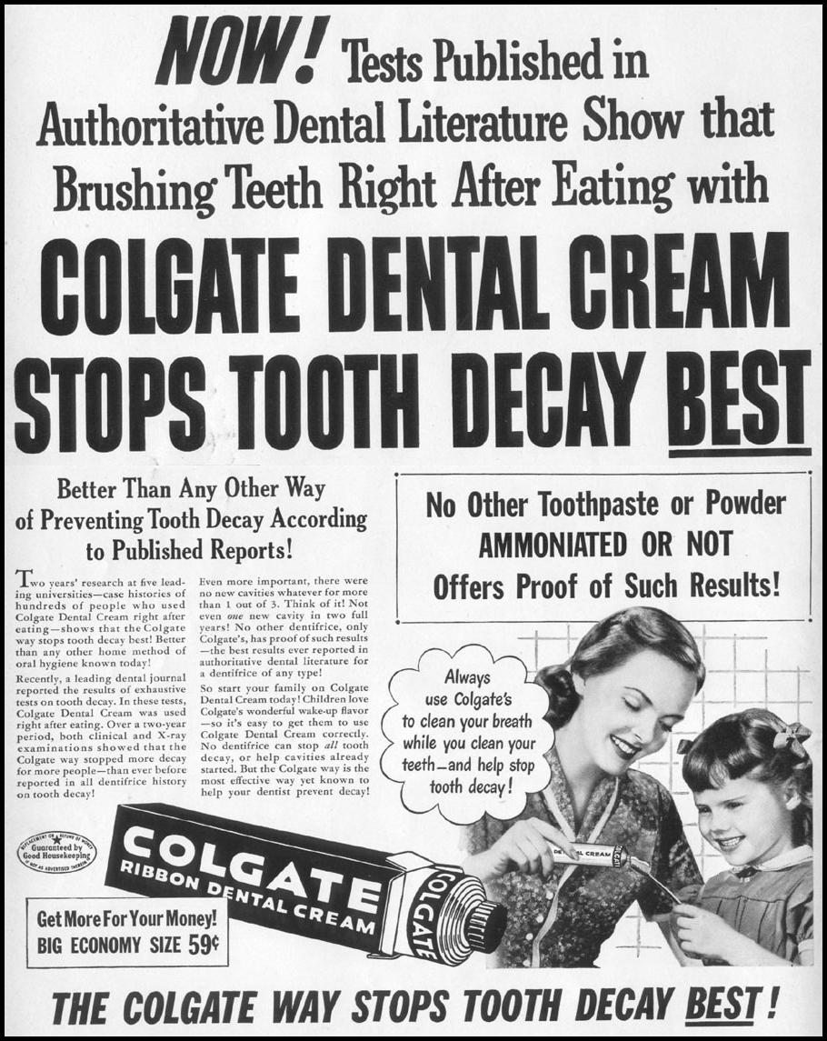 COLGATE DENTAL CREAM LIFE 06/05/1950 p. 2