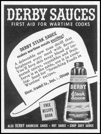 DERBY SAUCES WOMAN'S DAY 05/01/1943 p. 78