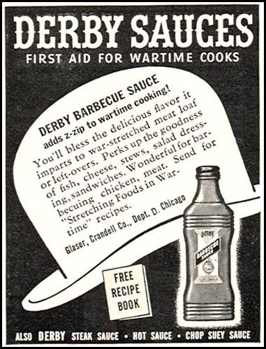 DERBY BARBECUE SAUCE WOMAN'S DAY 06/01/1943 p. 64