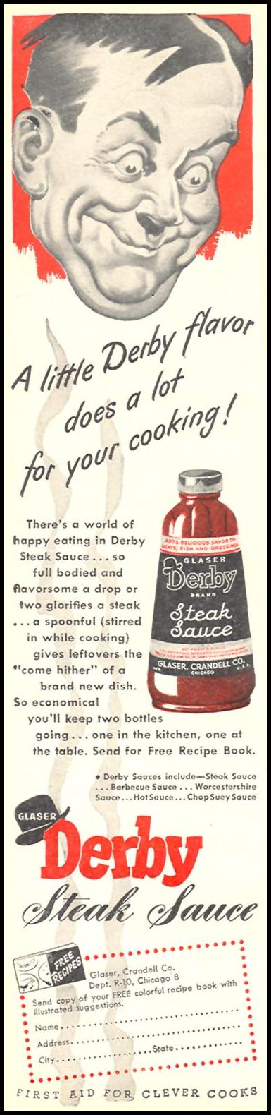 DERBY STEAK SAUCE WOMAN'S DAY 10/01/1946 p. 12