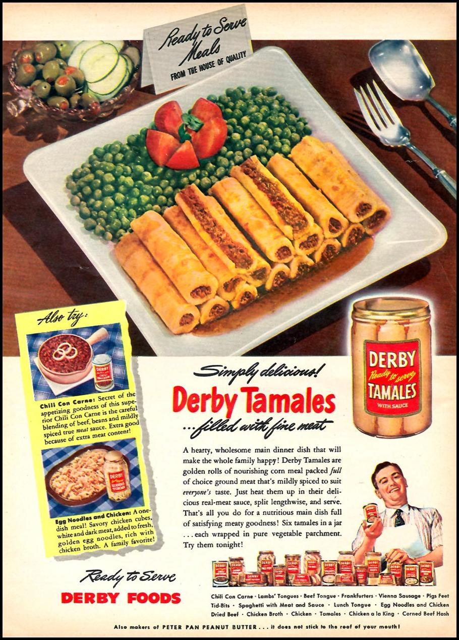 DERBY TAMALES WOMAN'S DAY 10/01/1946 p. 55