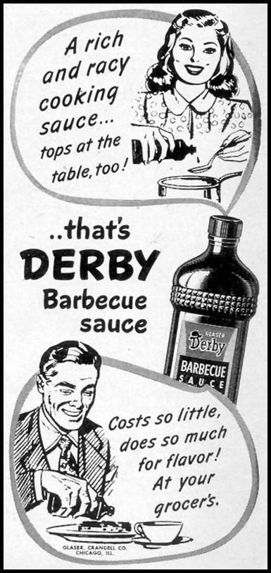 DERBY BARBECUE SAUCE WOMAN'S DAY 11/01/1948 p. 137
