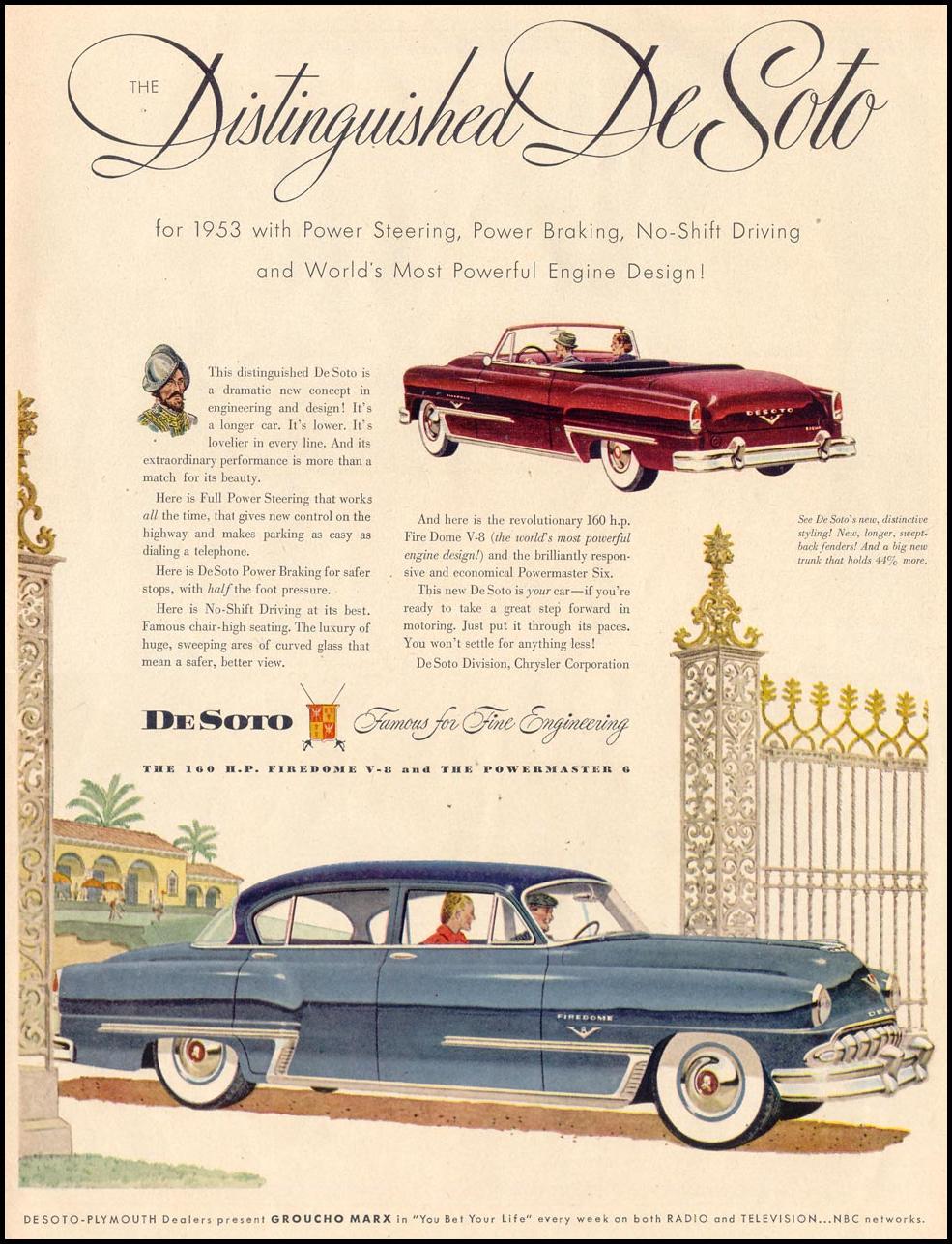 DE SOTO AUTOMOBILES LIFE 02/02/1953 p. 5