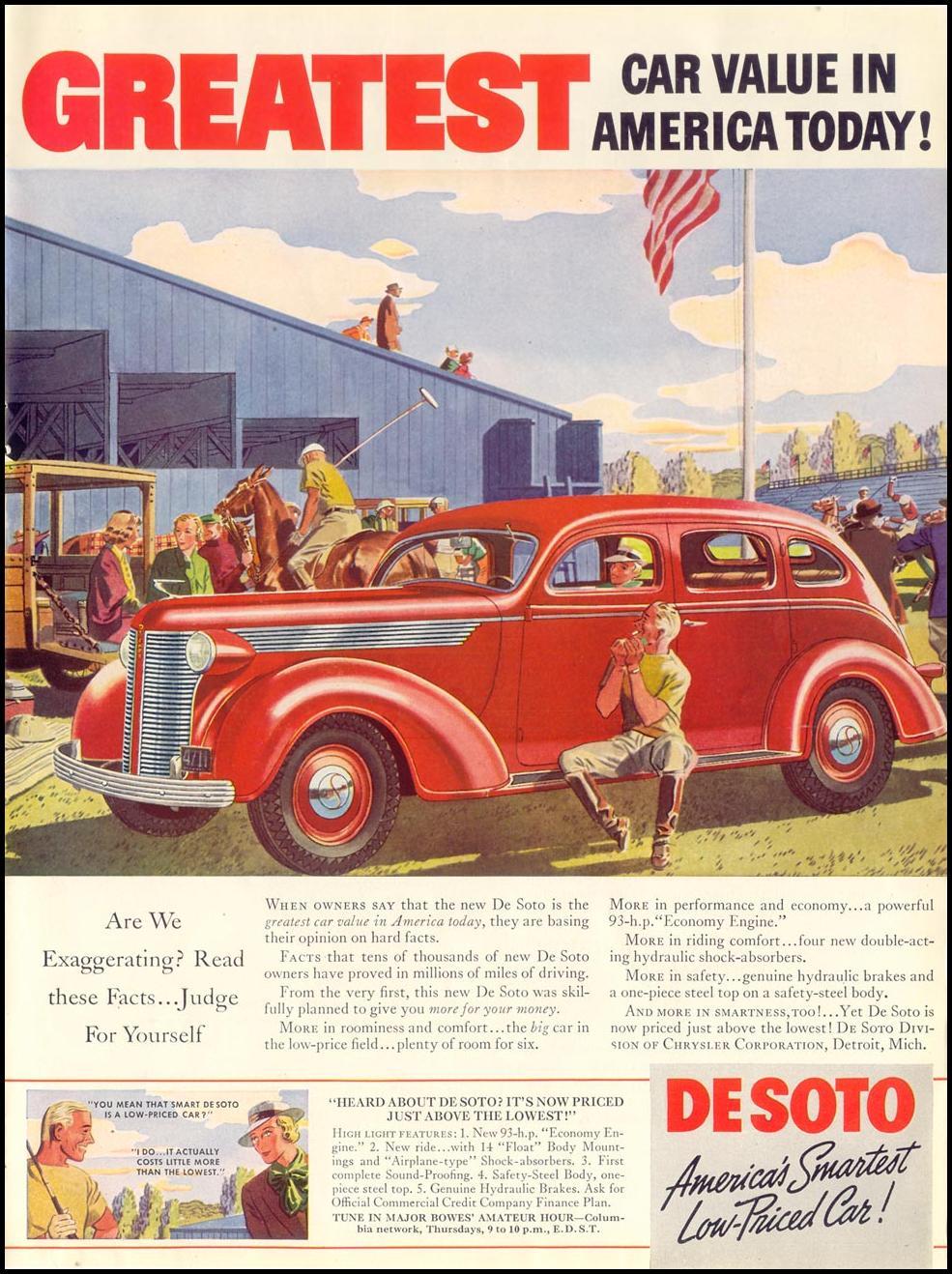 DE SOTO AUTOMOBILES LIFE 07/26/1937