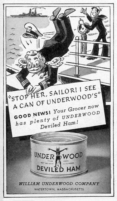 UNDERWOOD DEVILED HAM LIFE 02/28/1944 p. 115