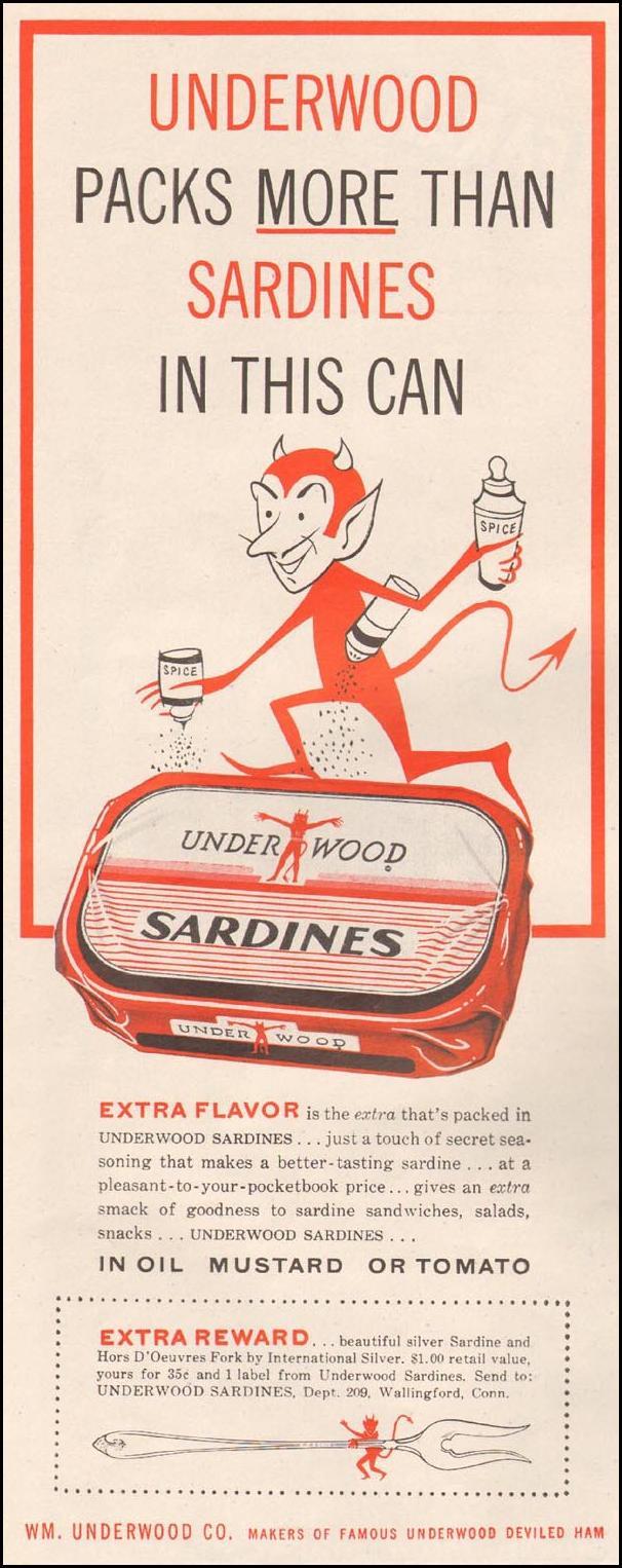 UNDERWOOD SARDINES LIFE 08/10/1959 p. 106
