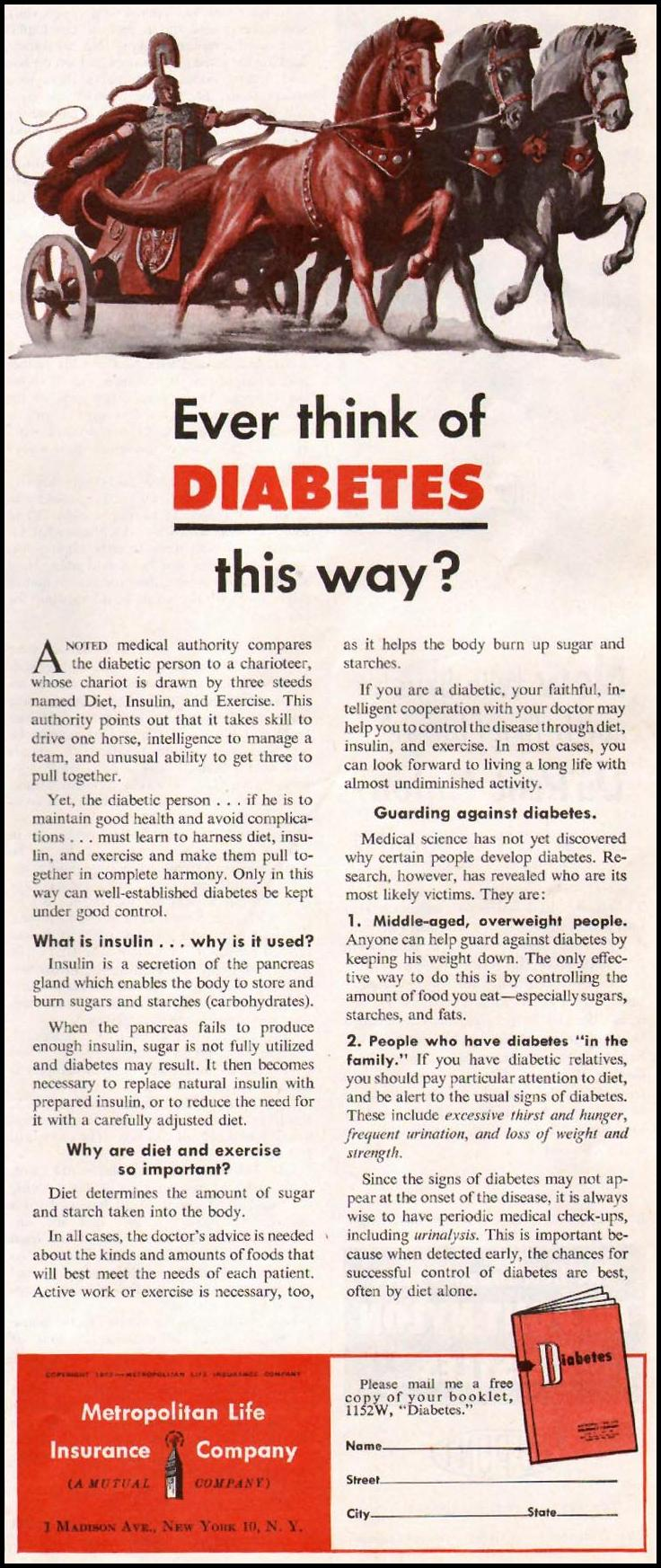 DIABETES PREVENTION AND CONTROL WOMAN'S HOME COMPANION 12/01/1952 p. 53