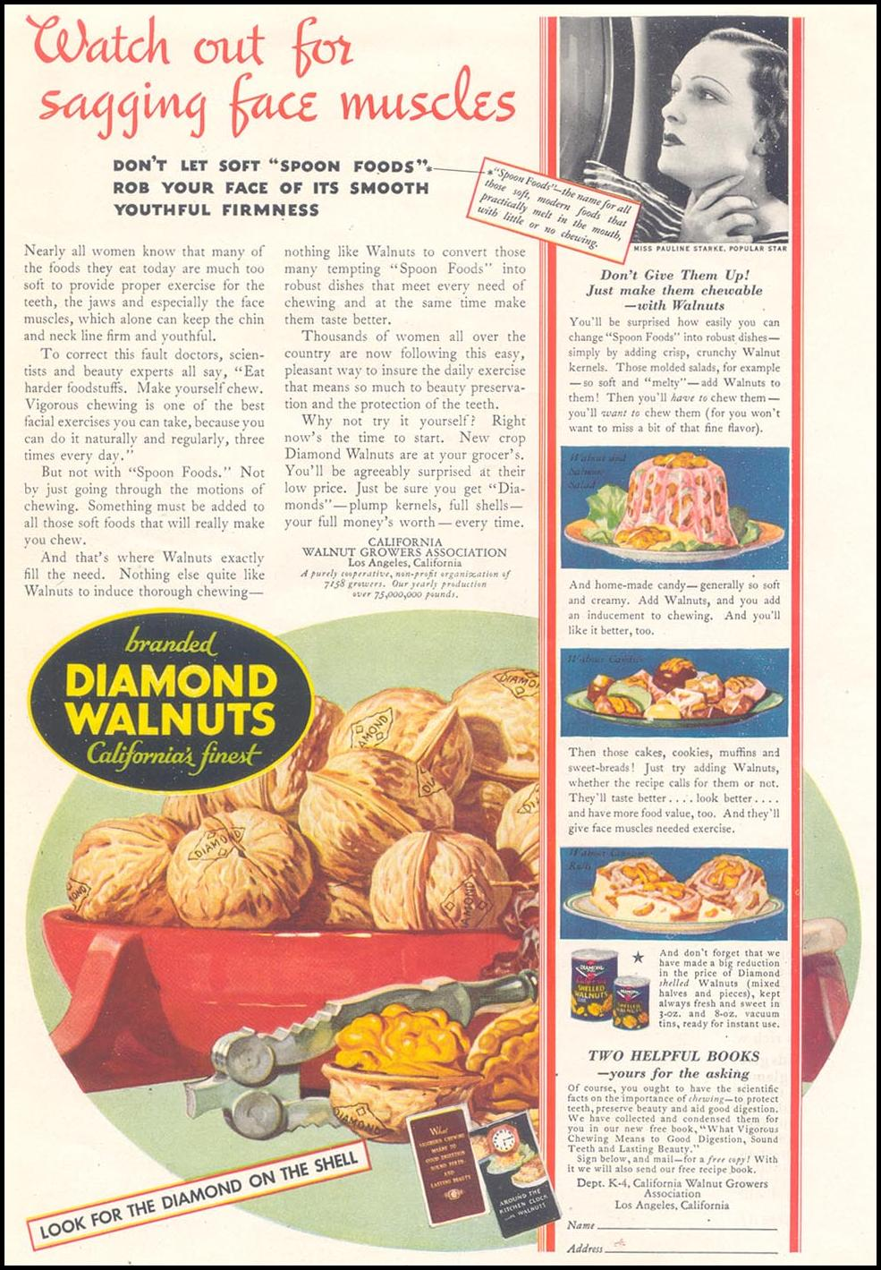 DIAMOND BRAND WALNUTS GOOD HOUSEKEEPING 11/01/1933