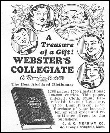 WEBSTER'S COLLEGIATE DICTIONARY GOOD HOUSEKEEPING 12/01/1934 p. 162
