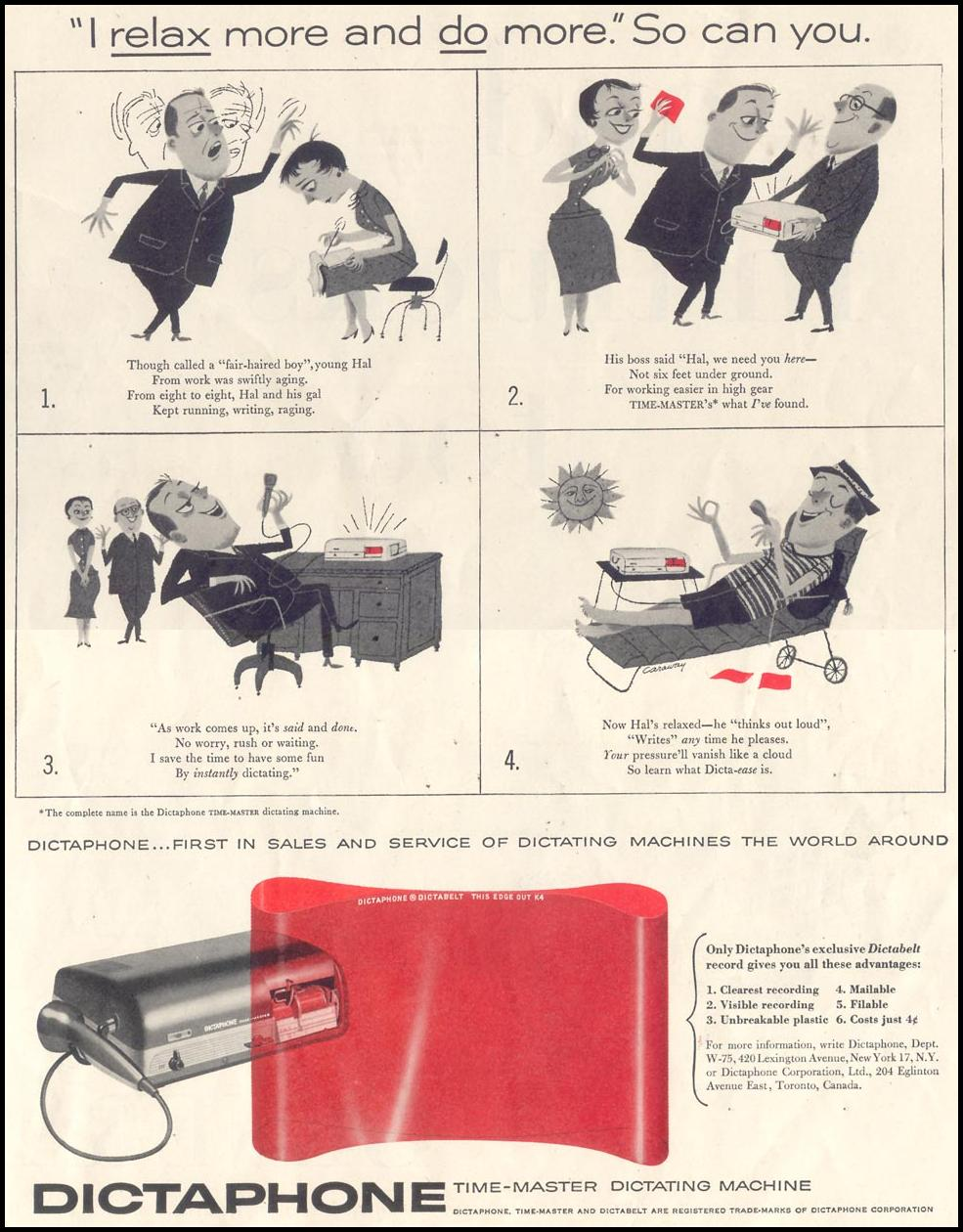 DICTAPHONE DICTATING MACHINE SATURDAY EVENING POST 07/23/1955 p. 13