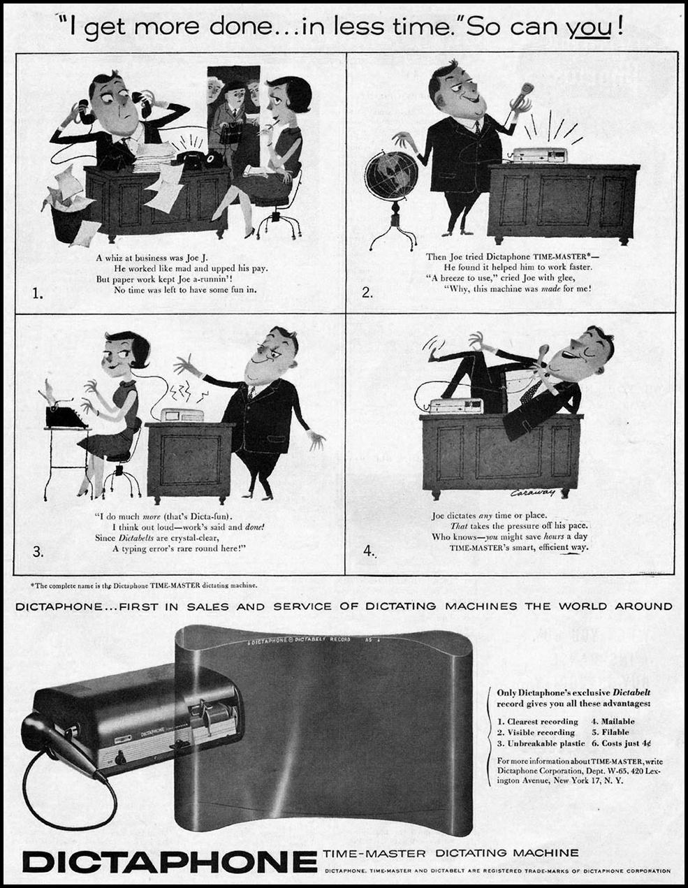 DICTAPHONE TIME-MASTER DICTATING MACHINE SATURDAY EVENING POST 06/04/1955 p. 123