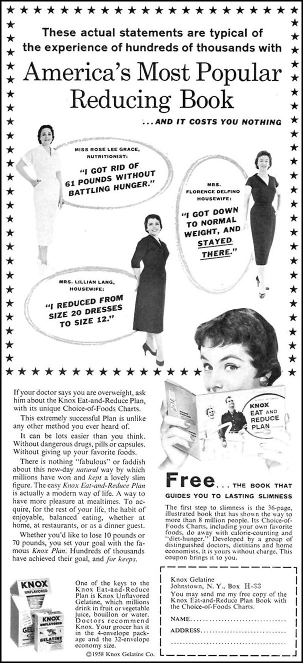 KNOX EAT-AND-REDUCE PLAN FAMILY CIRCLE 02/01/1958 p. 16