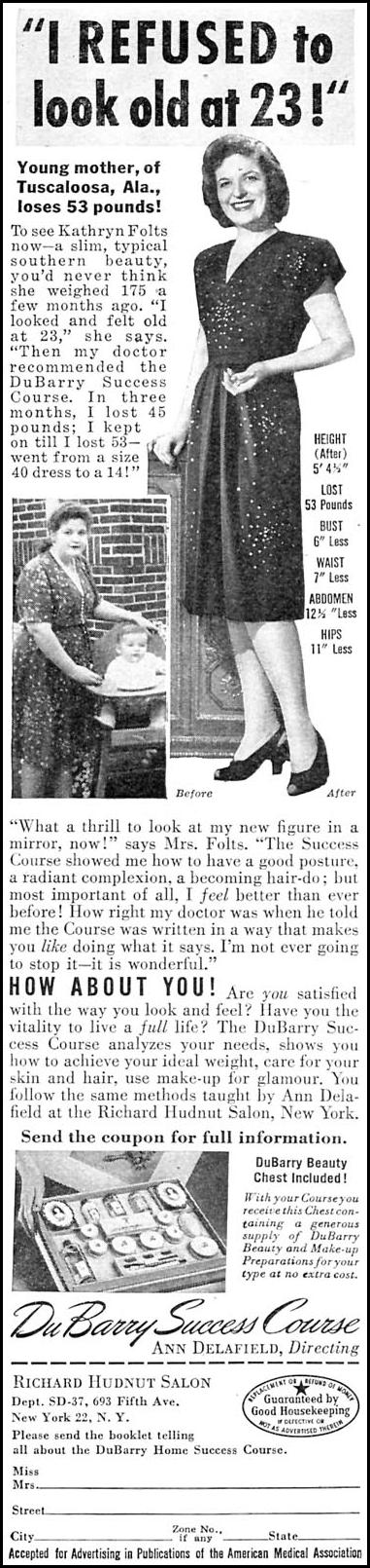 DUBARRY SUCCESS COURSE WOMAN'S DAY 04/01/1946 p. 58