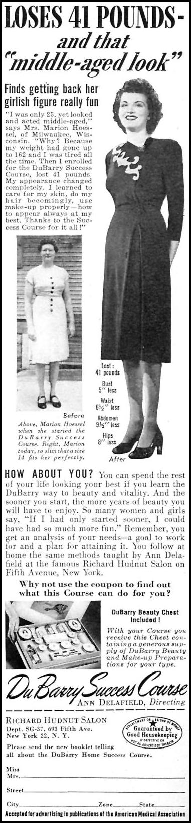 DUBARRY SUCCESS COURSE WOMAN'S DAY 07/01/1946 p. 9