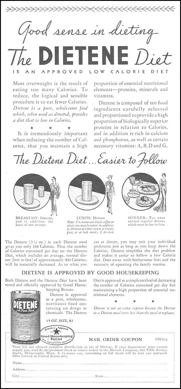 DIETENE GOOD HOUSEKEEPING 06/01/1935 p. 220