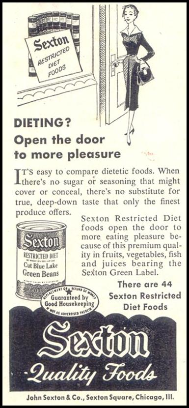 SEXTON RESTRICTED DIET FOODS SATURDAY EVENING POST 10/29/1955 p. 126