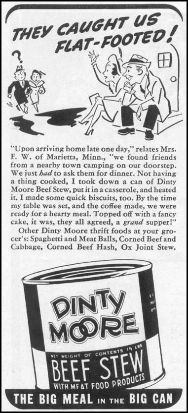DINTY MOORE BEEF STEW WOMAN'S DAY 05/01/1939 p. 40