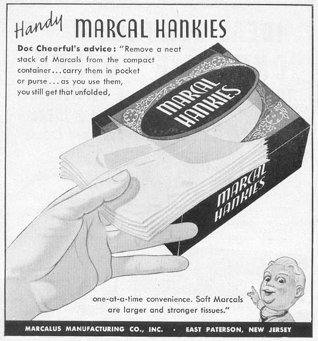 MARCAL HANKIES WOMAN'S DAY 12/01/1948 p. 92