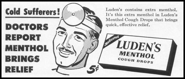 LUDEN'S COUGH DROPS LIFE 01/21/1952 p. 98