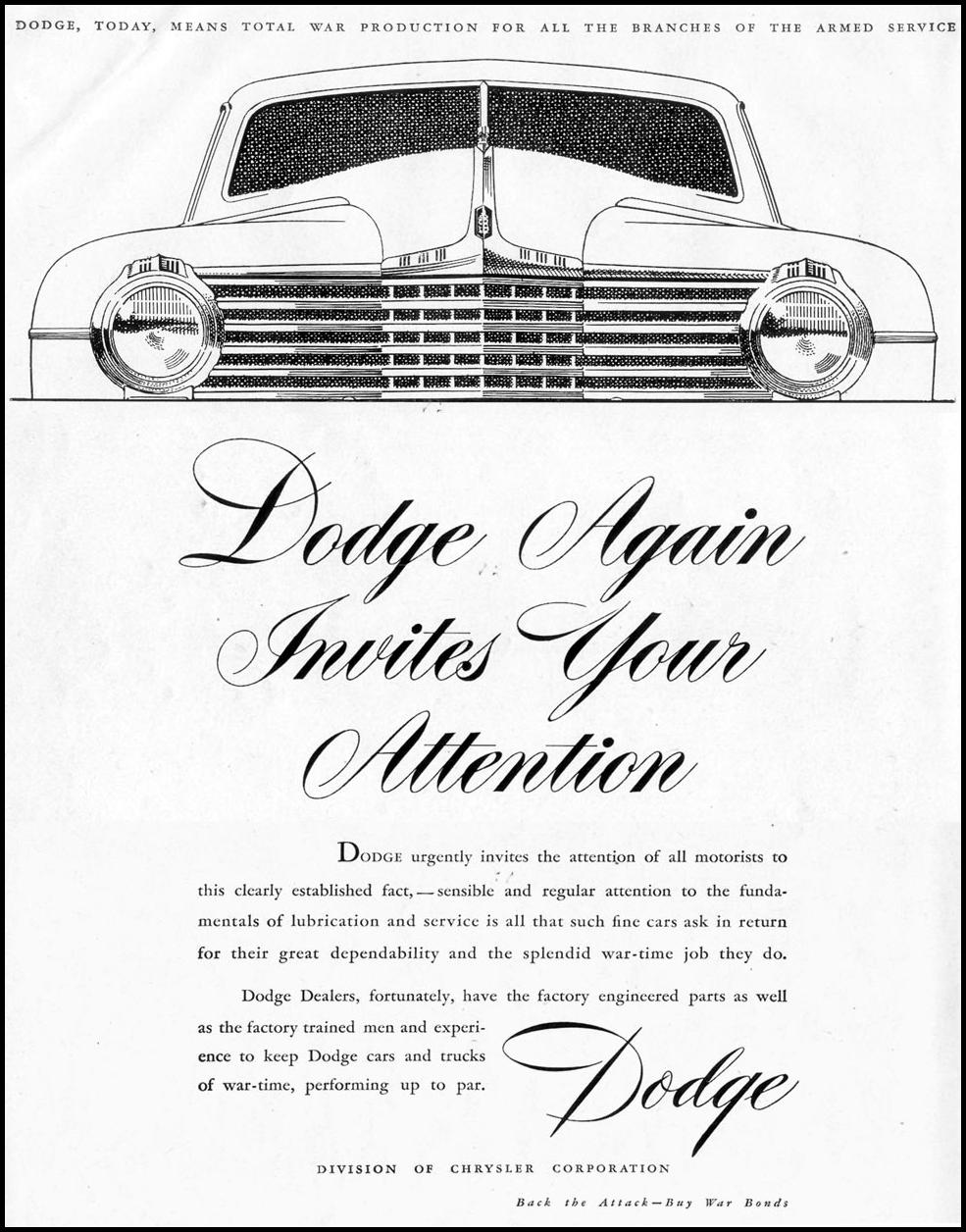 DODGE WAR PRODUCTION LIFE 11/08/1943 p. 24