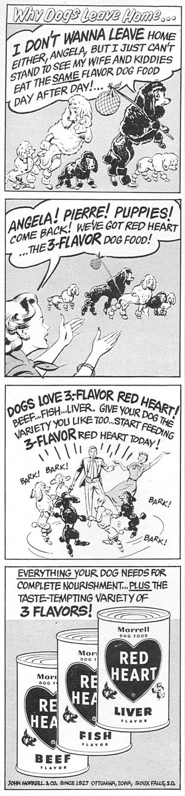 RED HEART DOG FOOD WOMAN'S DAY 02/01/1954 p. 158