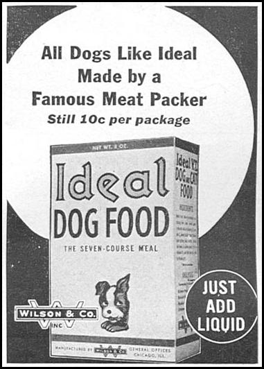 IDEAL DOG FOOD WOMAN'S DAY 04/01/1943 p. 59