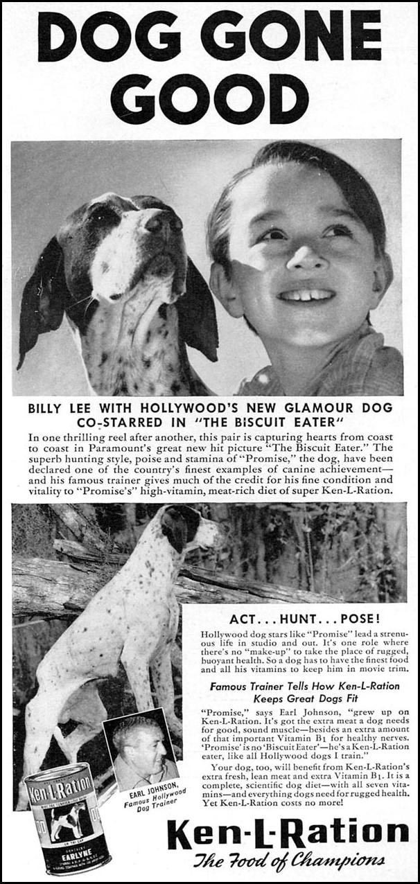 KEN-L-RATION DOG FOOD WOMAN'S DAY 05/01/1940 p. 55