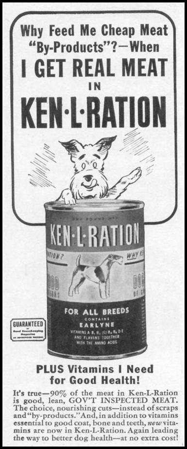 KEN-L-RATION DOG FOOD WOMAN'S DAY 05/01/1941 p. 66