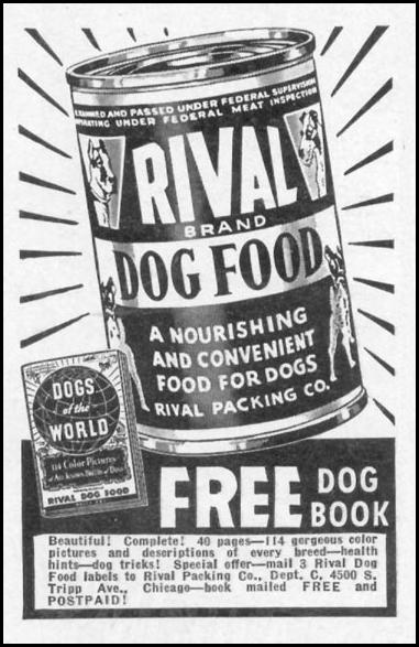 RIVAL DOG FOOD WOMAN'S DAY 05/01/1941 p. 76