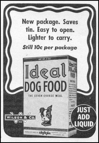 IDEAL DOG FOOD WOMAN'S DAY 05/01/1943 p. 71