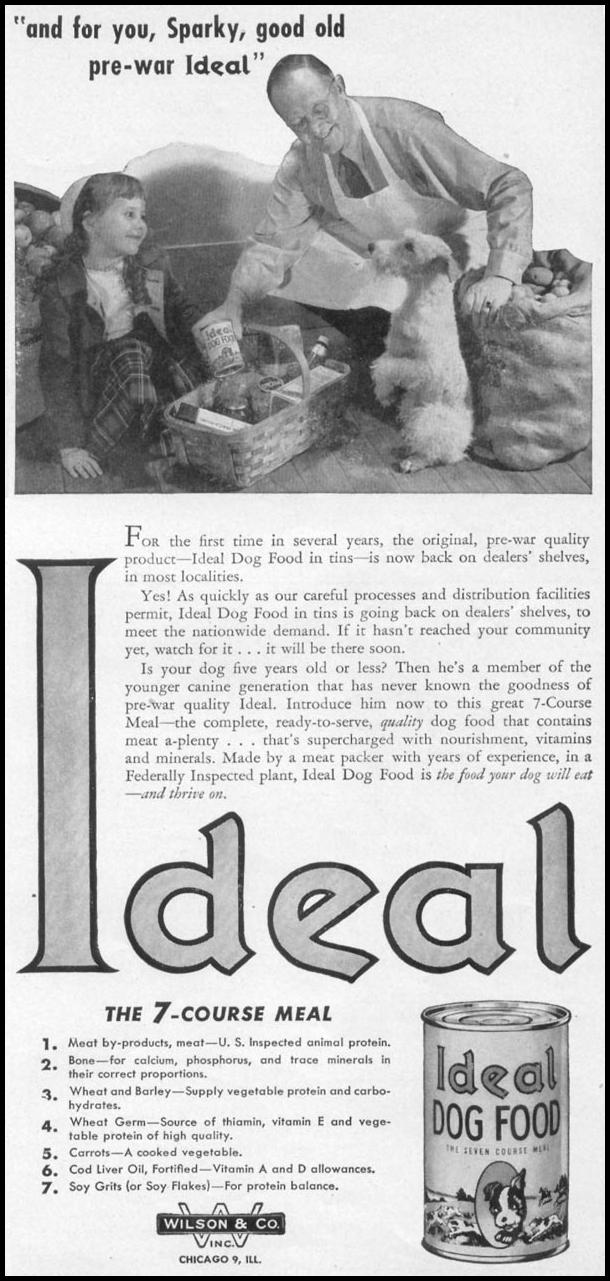 IDEAL DOG FOOD WOMAN'S DAY 05/01/1947 p. 101