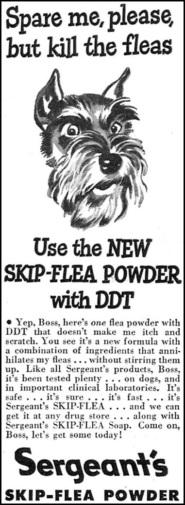 SERGEANT'S SKIP-FLEA POWDER WOMAN'S DAY 07/01/1946 p. 76