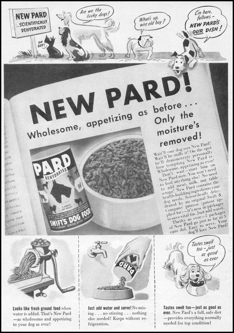 PARD DOG FOOD WOMAN'S DAY 09/01/1942 p. 8