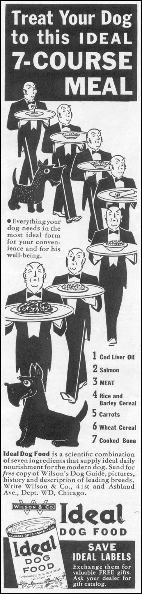 IDEAL DOG FOOD WOMAN'S DAY 10/01/1939 p. 44
