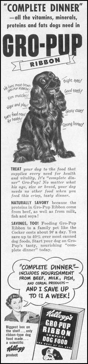 GRO-PUP DOG FOOD WOMAN'S DAY 10/01/1949 p. 24