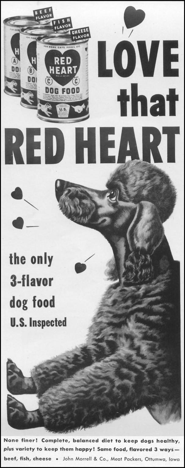 RED HEART 3-FLAVOR DOG FOOD LIFE 01/21/1952 p. 54