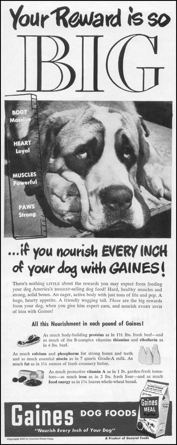 GAINES DOG FOODS LIFE 06/05/1950 p. 10