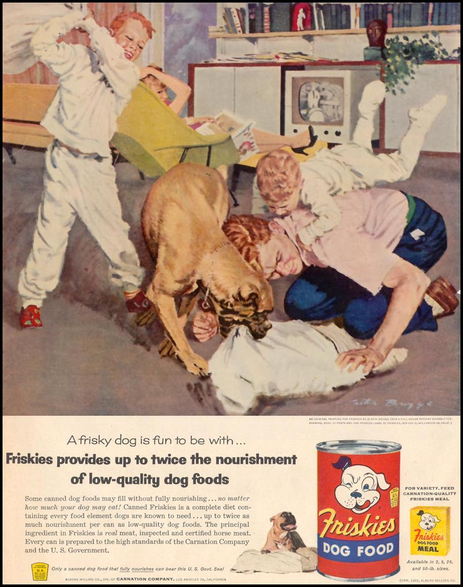 FRISKIES DOG FOOD LIFE 11/14/1955 p. 5