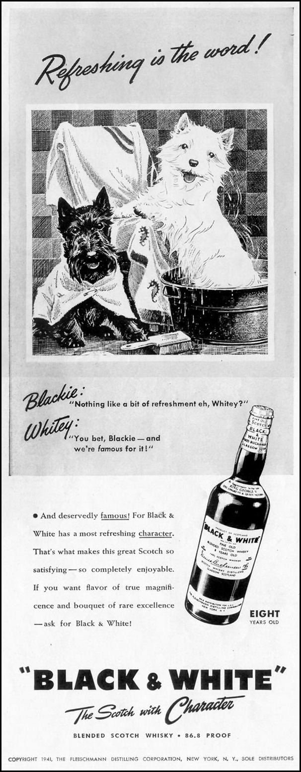 BLACK & WHITE BLENDED SCOTCH WHISKEY LIFE 06/23/1941 p. 70