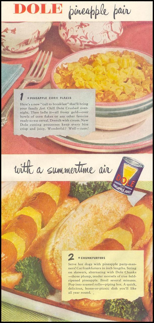 DOLE PINEAPPLE GOOD HOUSEKEEPING 07/01/1948 p. 169