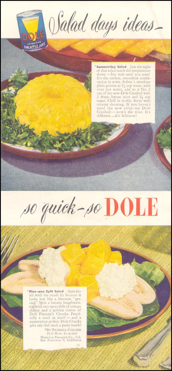 DOLE PINEAPPLE GOOD HOUSEKEEPING 07/01/1949 p. 149
