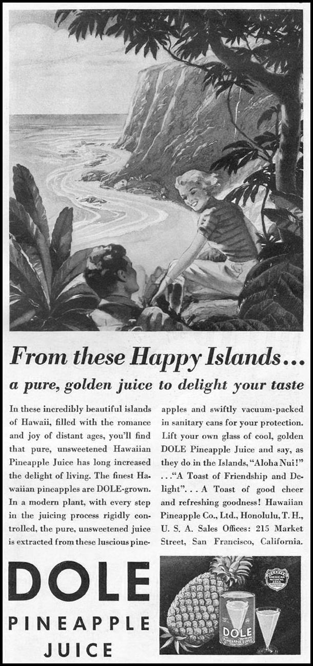 DOLE PINEAPPLE JUICE GOOD HOUSEKEEPING 12/01/1935 p. 163