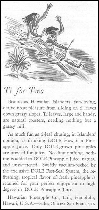 DOLE PINEAPPLE JUICE GOOD HOUSEKEEPING 04/01/1936 p. 229