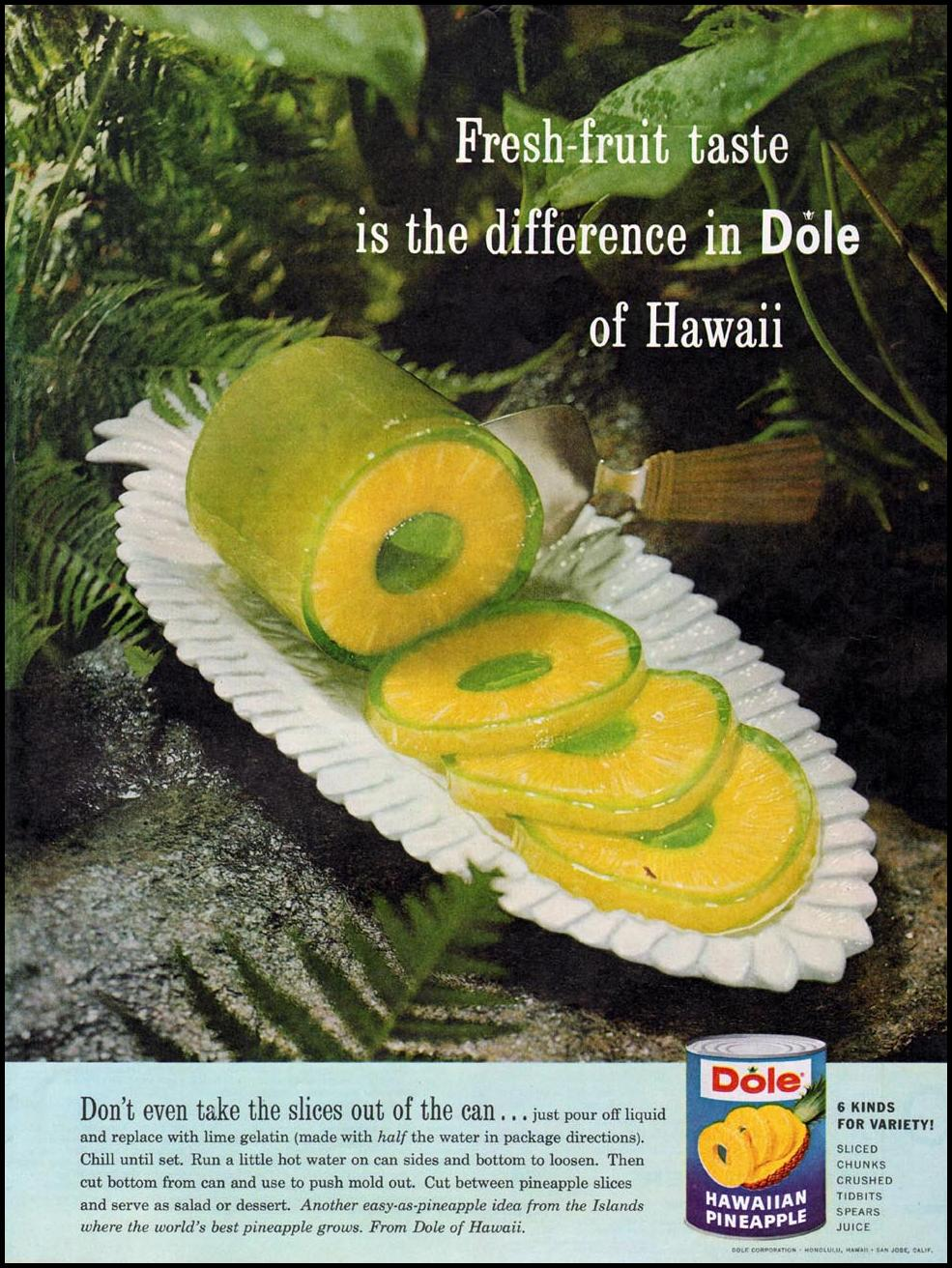 DOLE HAWAIIAN PINEAPPLE LADIES' HOME JOURNAL 06/01/1961 p. 32