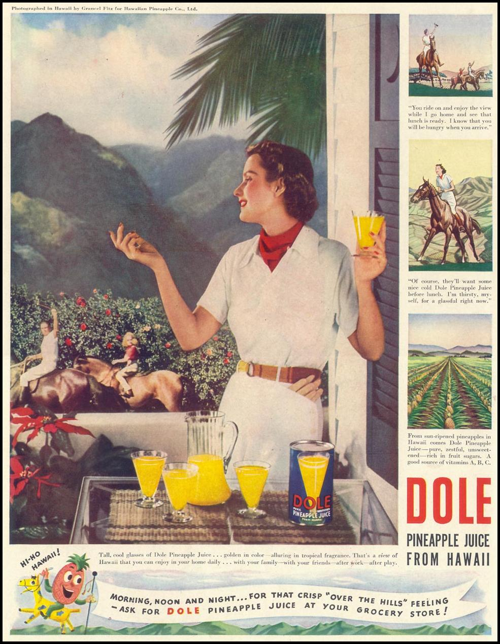DOLE PINEAPPLE JUICE LIFE 07/24/1939 p. 52