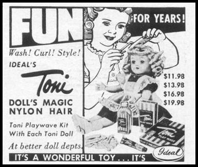 TONI DOLL WITH PLAYWAVE KIT LIFE 10/13/1952 p. 166