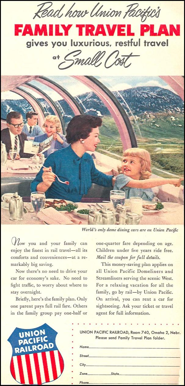 RAIL TRAVEL WOMAN'S DAY 04/01/1956 p. 21