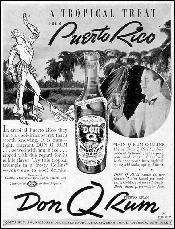 DON Q PUERTO RICAN RUM LIFE 07/18/1938 p. 65