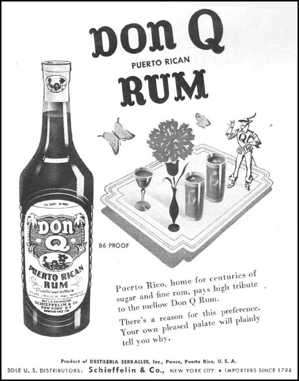 DON Q PUERTO RICAN RUM LIFE 10/25/1943 p. 84