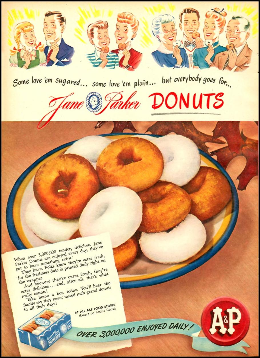 JANE PARKER DONUTS WOMAN'S DAY 10/01/1946 p. 22